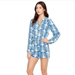 Lilly Pulitzer Get In Line Elsa Romper small
